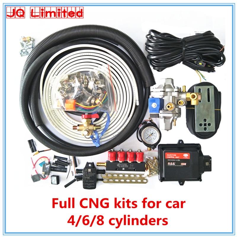 HOB 6 cylinders BC300 Full set propane methane LPG CNG conversion kits for car ECU kits+reducer ...