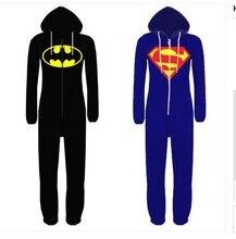 Anime Cosplay Superhéroe Superman Batman ropa de Dormir para Adultos Pijamas Carnaval de Disfraces de Halloween para Hombres Mujeres
