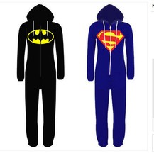 Anime Cosplay Pyjamas Superhero Superman Batman Sleepwear for Adult Pajamas Carnival Halloween Costume for Men Women