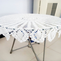 100cm 39 37 Inch Hand Made Crochet Vintage Knit Retro Decorative Hook Engraving Flower Weaved Knitted