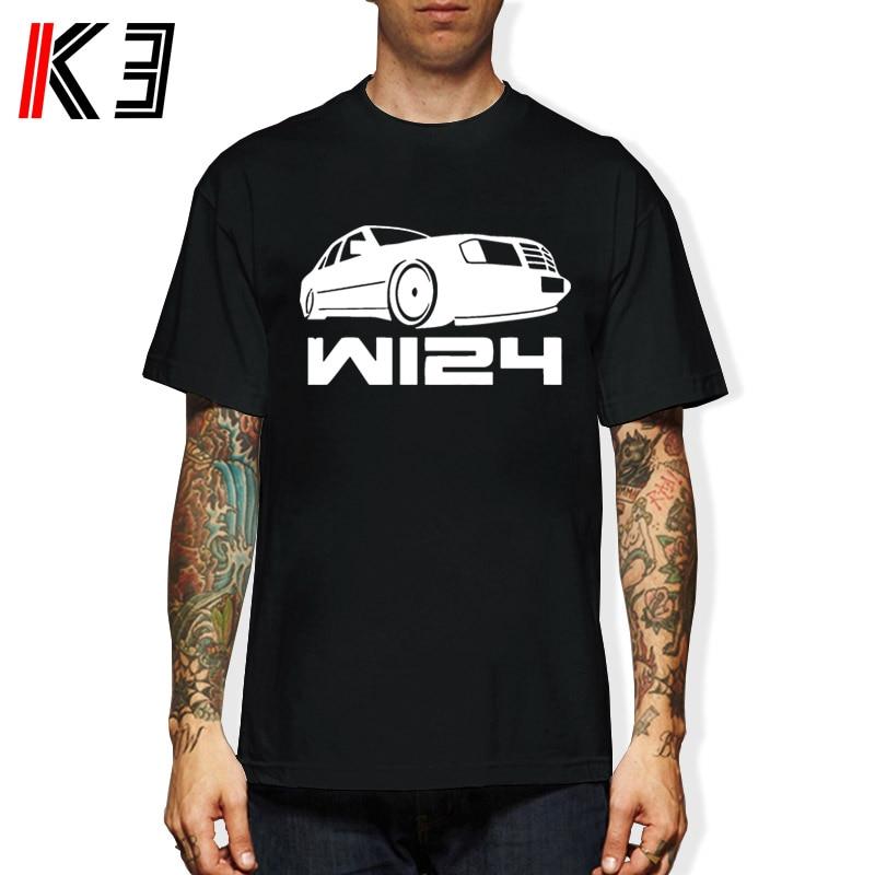 K3 Classic W123/W124 Mercedes Coupe Evolution Car Auto T-shirt T Shirt Discount 100 % Cotton T Shirt For Men'S