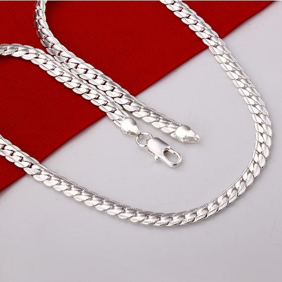 Wholesale Necklace New silver plated Menn's jewelry necklace / silver plated necklace N280