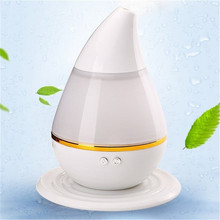 Water Drop Air Humidifier USB Ultrasonic Humidifier LED Light Aroma Diffuser Mist Maker 3 Colors