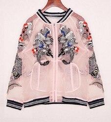2016 women bomber font b jacket b font carp embroidery organza sunscreen font b jacket b.jpg 250x250