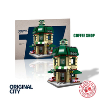 XingBao 01105 Genuine 1079 Pcs The Coffee Shop Wedding Store Flower Shop Pet Shop Set 4 in 1 Building Blocks Bricks Toys Model
