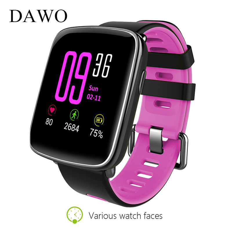 DAWO GV68 Bluetooth Smart Watch Sleep Monitor Pedometer Men Women Waterproof Speaker 1.54 Inch Touch Screen For IOS Android bozlun fashion smart watch men women push information sleep monitor touch screen ip 67 waterproof creative wrist watches skmei