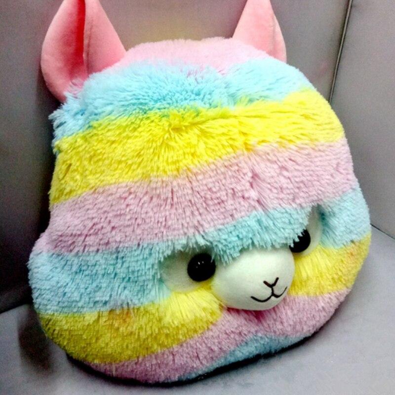 2017 new arrivel 40cm 45cm Japan Rainbow Alpacasso Plush Toy Kids Rainbow Alpaca Christmas Gifts Toy