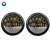 4.5 Inch LED Fog Lights for Harley Electra Glide 2005 2013 Road King Eagle Electra 2010 2013 4.5 inch Reflector LED Light .