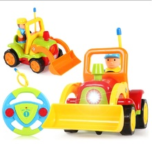 Free Shipping Remote Control Baby Car RC Car Baby's First Car with Music Light Education Learning Toy Best Toys For Children
