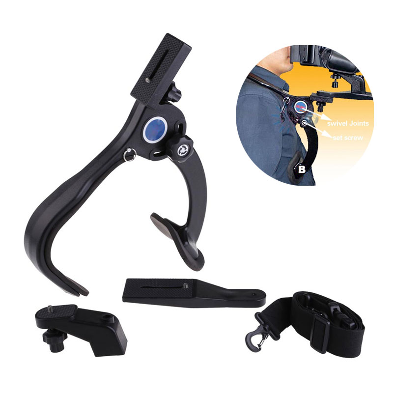 Pro Video Stabilizing Handle Grip for Sony Cyber-Shot DSC-HX300 Vertical Shoe Mount Stabilizer Handle