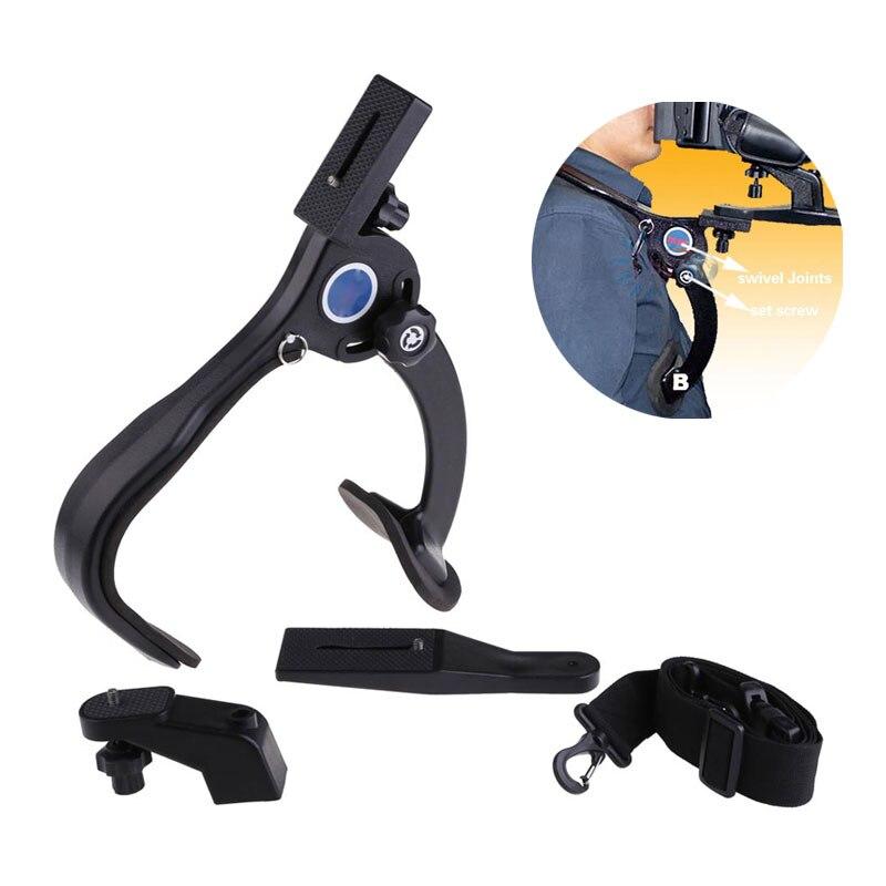 Mãos Livres Suporte de Câmera No Ombro Pad Estabilizador 5KG Capacidade de Carga Máxima Da Câmera Estabilizador Para Filmadora Câmera de Vídeo DSLR