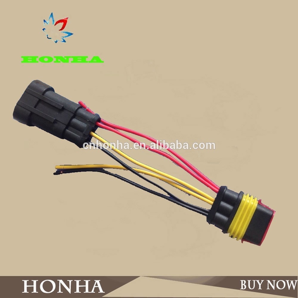 282087 120469 Amp Tyco 3 Pin Connector Wire Harness Scosche In Wiring Interface Cables Adapters Sockets From Automobiles Motorcycles On Alibaba Group
