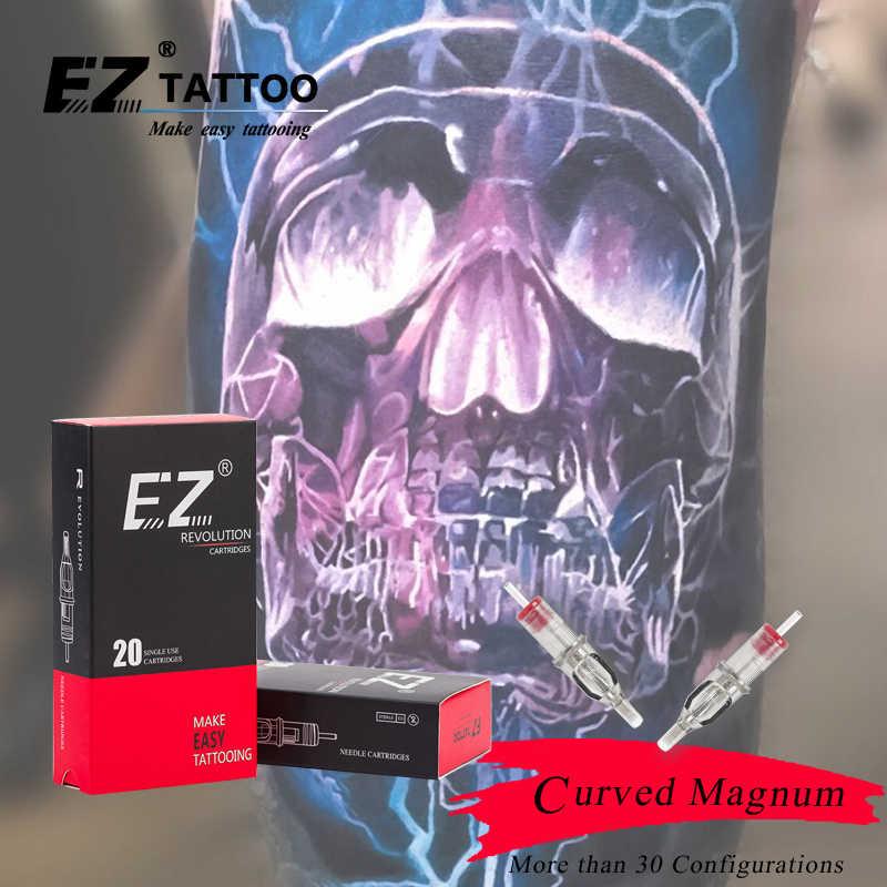 5 قطع EZ الثورة خرطوشة الإبر #10 (0.30 مللي متر) منحني ماغنوم الوشم الإبر ل نظام خرطوشة آلة السيطرة