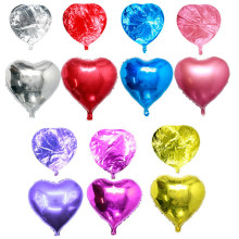 Promotion 10 Inch Heart Shape Aluminium Foil Air Balloon Kid Toys Wedding Party Say Love Decorations Marriage Ballon Supplies