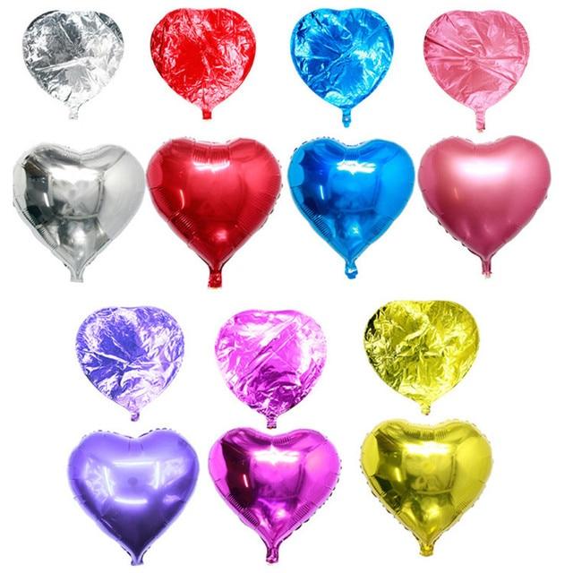 Promotion 10 Inch Heart Shape Aluminium Foil Air Balloon Kid Toys Wedding Party Say Love Decorations Marriage Ballon Supplies
