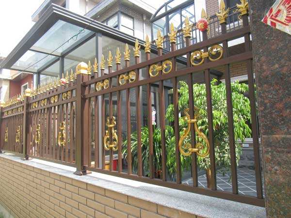 New Style Powder Coated Metal Aluminum Fence Designs Hc-af9
