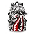 2016 Fashion Personality Shark Printing Children Backpacks Designer Monster 3D School Backpacks School Bag