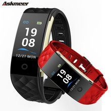 ASKMEER S2 Smart Wristband Heart Rate Tracker Bracelet IP67 Waterproof Watch Men Band For IOS Android Phone
