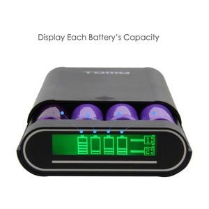 Image 5 - TOMO M4 chargeur dalimentation intelligent housse de batterie portative 4X18650 batterie lithium ion Portable bricolage chargeur de boîte Powerbank pour batterie 18650