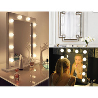 10 LED Dimmable Mirror Light USB Power Supply 7000K Light Bulb String for Makeup Dressing Table SDF SHIP