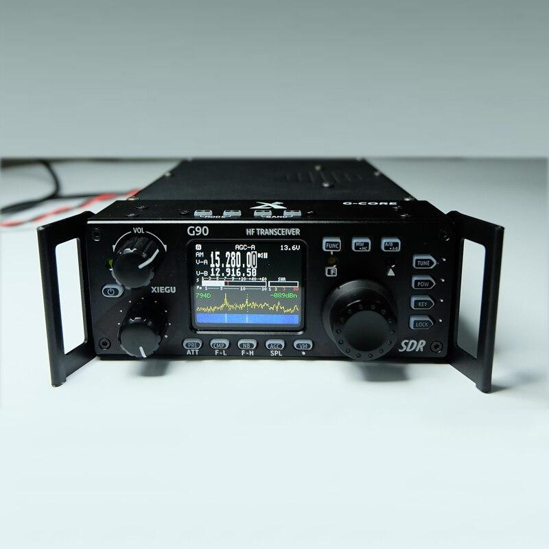 Xiegu G90 Rádio de Ondas Curtas Ao Ar Livre Versão 0.5-MHz 20 30 W Transceptor HF Com SE a Saída, SDR HF portátil Transceptor SSB/CW/AM