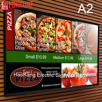 Advertising Menu Light Box FOH Brand Aluminium Indoor Catering LED Light Boxes Illuminated Poster Frame Led Advertising Panel