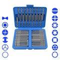 Juego de 51 brocas Extra largas Torx Star Hex Pozi Philips destornillador ranurado juego de herramientas de mano Cr-V