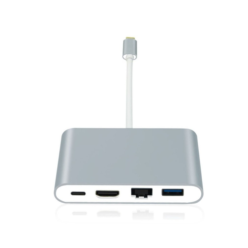 USB Type-C Hub USB-C to HDMI UHD 4K Converter RJ45 PD Port Gigabit Ethernet Adapter for Thunderbolt USB3.0 Hub usb type c to hdmi uhd 4k adapter high speed usb3 0 hub converter with pd charging ports for macbook projector hdtv