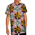 Impresión de la manera tops camiseta del o-cuello de manga corta hombres ropa dashiki africano áfrica clothing