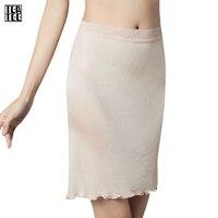 Slip Women Underskirt White Sexy Pure Silk Lingerie High Quality Lace Femme Girls Half Slip Under