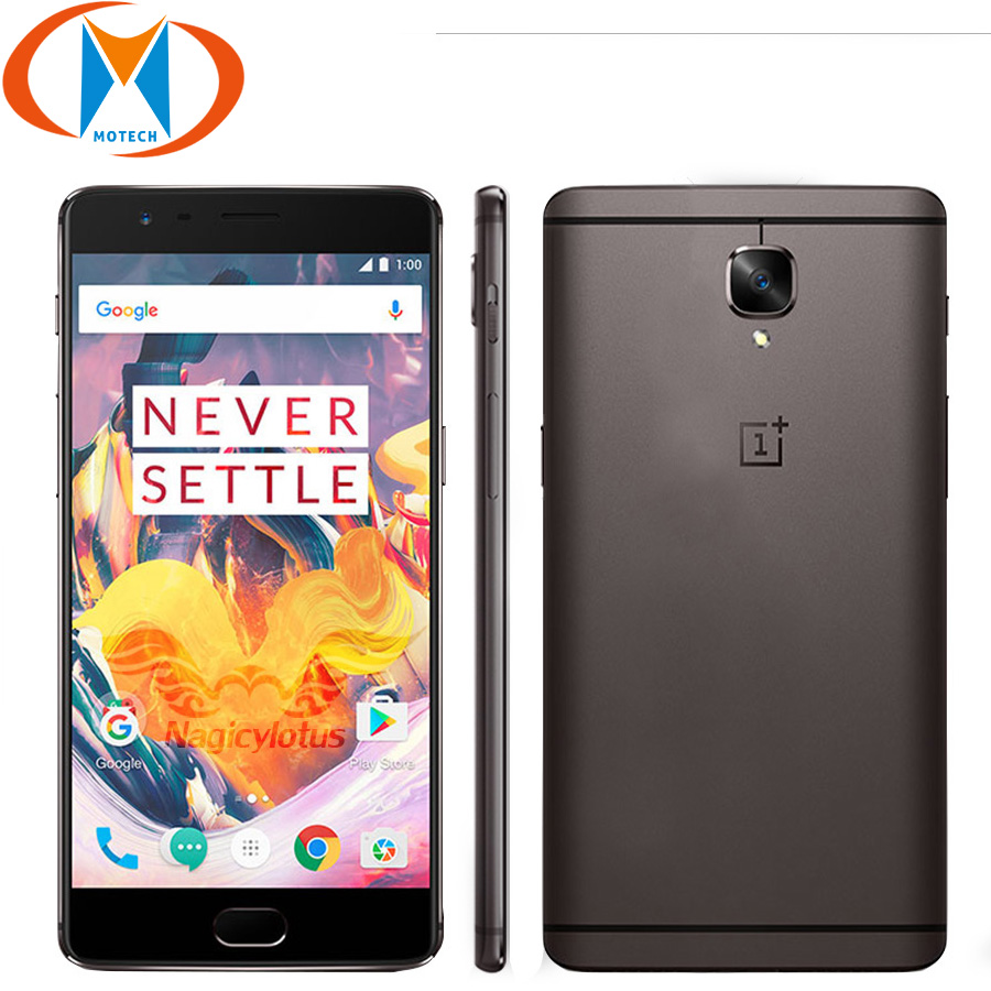 Global Firmware New OnePlus 3T 128GB 6GB 64GB Mobile Phone Snapdragon 821 Octa Core A3010 5