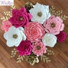 Fengrise 20 Cm Diy Papier Bloemen Achtergrond Decoratieve Kunstmatige Bloemen Bruiloft Gunsten Verjaardag Woondecoratie