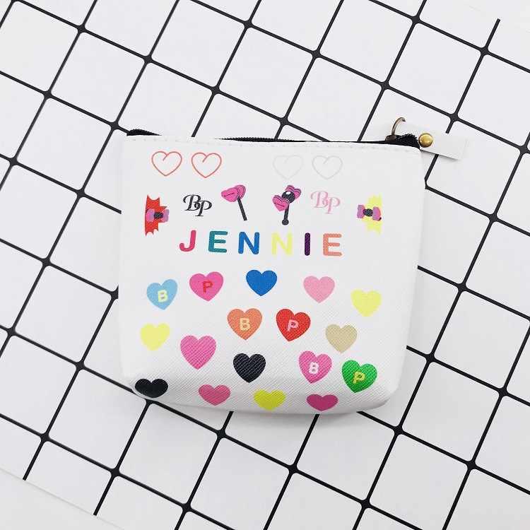 KPOP LISA JISOO JENNIE ROSE BLACKPINK cartera bolsillo papelería caja de papelería al por mayor Pu cremallera almacenamiento monedero tarjeta Mini bolsa