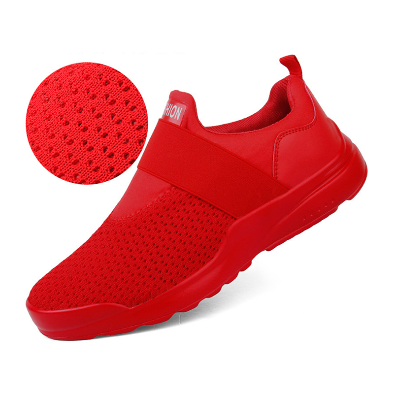 Men's Shoes Collection Here Junsrm 2019 Men Boots Shoes Red Black White Lightweight Comfortable Breathable Walking Sneakers Tenis Feminino Zapatos 39-46 High Quality Materials Men's Boots