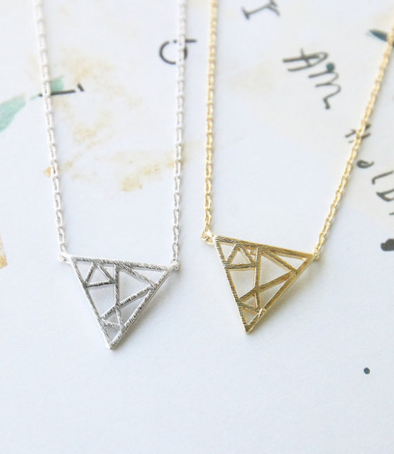 necklace crane everyday minimalist dainty feminine origami dp paper
