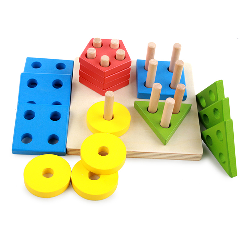 Montessori Wooden Toys For Children Educational Puzzle ...