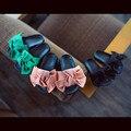 A mãe e As Meninas Sandálias ~ China 21-39 Pais Sapatos de Verão Arco Princesa Meninas Sandálias Chinelos para Crianças Super Fofo Flats Sapatos de Praia