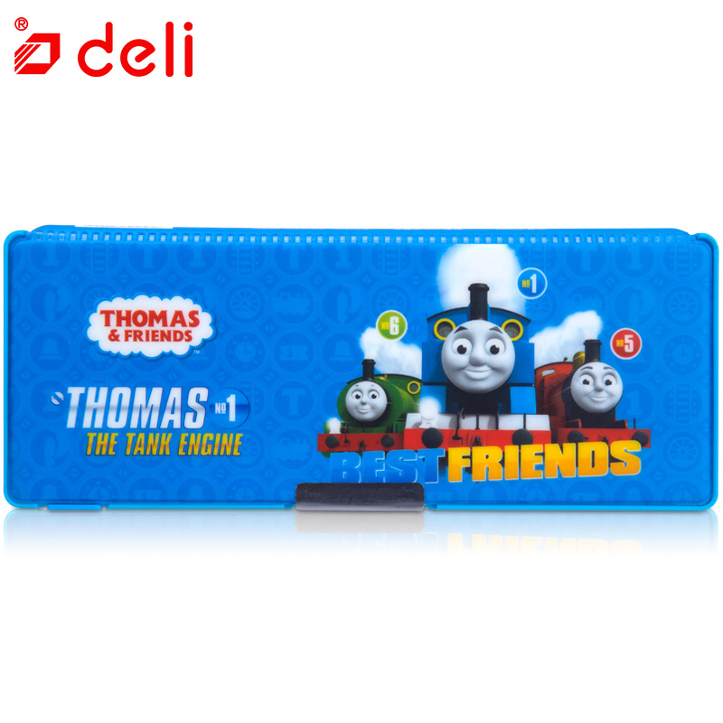Deli pencil case children multifunctional pencil box school student Thomas plastic pen case stationery school supplies kids gift 220909 school gifts boxes pupil men multifunctional creative disney child pencil box primary school student