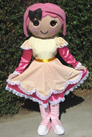 Fast custom LaLaLoopsy Mascot Character Mascot costumes Adult size birthday gift paarty Costume by express free shipping