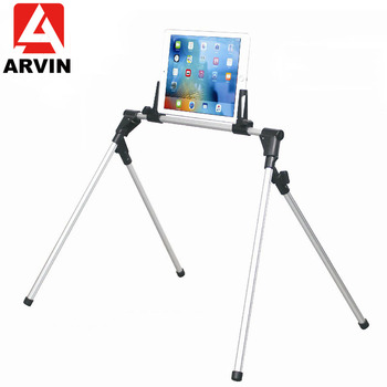 Arvin Adjustable Tripod Tablet Phone Holder Stand For IPad Pro 12.9 Aluminum Alloy Flexible Folding Arm For 4-13 Inch Samsung HP