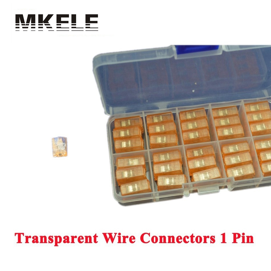 Hot Sale 30 Piece Transparent Single 1 Pin Cable Wire Wiring Connecting Connector For Lamp MKVSE-101 Wago Accessories China areyourshop hot sale 50 pcs musical audio speaker cable wire 4mm gold plated banana plug connector
