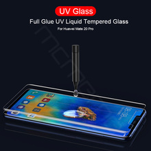 UV Light Full Glue Sceen Protector For Huawei Mate 20 Lite 5D 6D 9D Liquid Tempered Glass Pro RS X