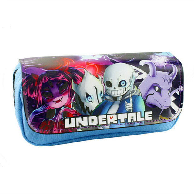 Free Shipping New Arrival Game Pencil Pen Case Undertale 2 Style Cosmetic Makeup Coin Pouch Zipper Bag