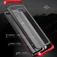 LUPHIE Metal Case For Samsung Galaxy S9 S8 Plus Note 8 Magnet Case Bumper Clear Glass Cover For Samsung Note 9 8 Tempered Case