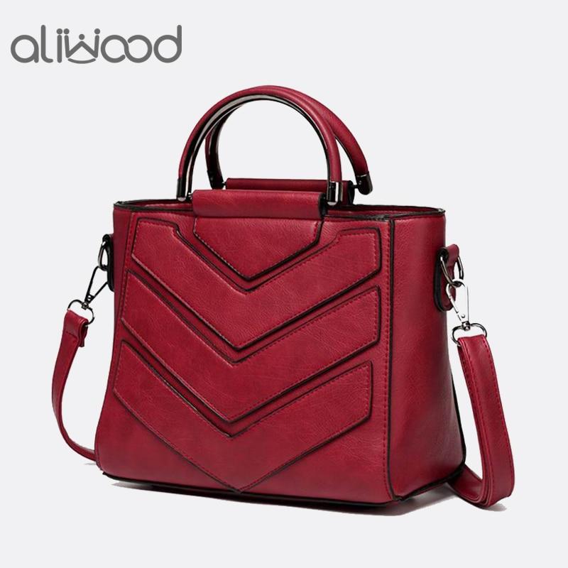 aliwood Women Bag PU Leather Handbags Ladies Crossbody Bags Trendy Elegant Tote Female Shoulder Messenger Bags Bolsas Feminina