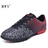 MWY футбольная обувь для мужчин и женщин профессиональный открытый TF футбольные бутсы для дерна кроссовки спортивные легкая одежда Zapatos Futbol