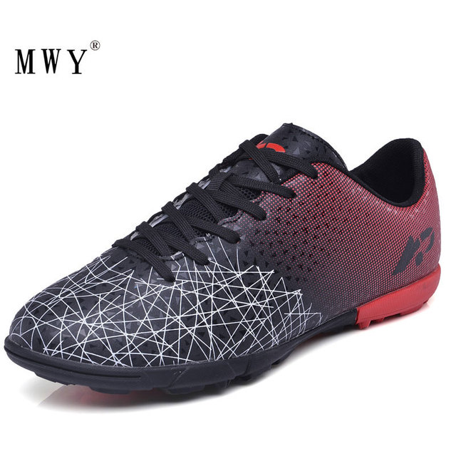 MWY Football Shoes Men Women Professional Outdoor TF Turf Soccer Cleats Trainers Sneakers Lightweight Wear Zapatos Futbol