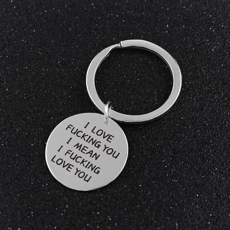 Srebrno-biały metalowy okrągły napis miłość zawieszki brelok do wysłania miłośników dziewczyn chłopaka miłość do wyrażania swoich uczuć