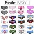 Sí papá palabras amor rosa 3d imprimir underwear mujeres femenina de color rosa sexy bragas de la ropa interior intimates