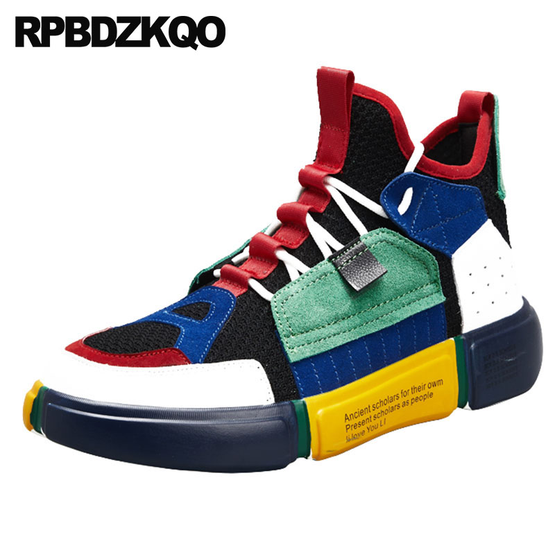 845bb787a73a US $56.14 36% OFF|Prom New Sneakers Trainers 2018 Men Shoes Casual High Top  Fashion Nice Street Style Hip Hop Creepers Breathable Platform Rubber-in ...